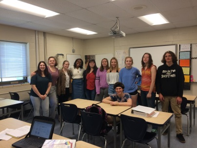 NH Youth Poet Laureate, senior Laila Ruffin, visits AVID - Spring 2018.