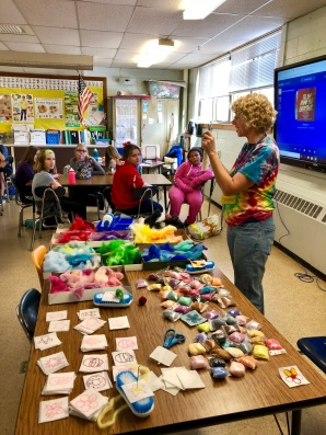 Mrs. Warburton explains how to sculpt with loose wool - Winter 2018